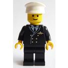 LEGO Pilot with Black Legs, White Hat Minifigure