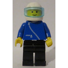 LEGO Pilot with Blue and Zipper White Helmet Minifigure