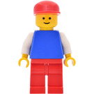 LEGO Pilot with Plain Blue Torso and Red Cap Minifigure