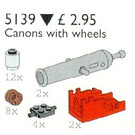 LEGO Pirate Cannon and Wheels Set 5139