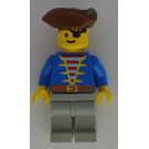 LEGO Pirate with Blue Jacket and Brown Triangular Hat and Eyepatch Minifigure
