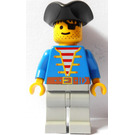 LEGO Pirate with Blue Jacket and Triangular Hat and Eyepatch Minifigure