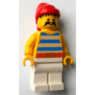LEGO Pirate with Large Moustache and White Legs Minifigure