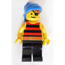 LEGO Pirate with Red and Black Stripes Shirt and Eyepatch Minifigure