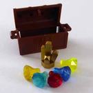 LEGO Pirates Advent Calendar Set 6299-1 Subset Day 24 - Treasure Chest with Gems