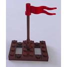 LEGO Pirates Advent Calendar Set 6299-1 Subset Day 8 - Raft with Flagpole