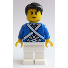 LEGO Pirates Chess Bluecoat Soldier with Cheek Lines and Black Tousled Hair Minifigure