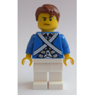 LEGO Pirates Chess Bluecoat Soldier with Sweat Drops and Reddish Brown Hair Minifigure
