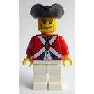 LEGO Pirates Chess Set Imperial Officer with Brown Eyebrows and Black Chin Dimple and Cheek lines Minifigure