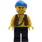 LEGO Pirates Chess Set Pirate with Anchor Tattoo and Blue Bandana Minifigure