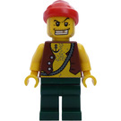 LEGO Pirates Chess Set Pirate with Anchor Tattoo and Red Bandana Minifigure