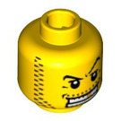 LEGO Plain Head with Decoration (Safety Stud) (13628 / 52517)