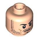 LEGO Plain Head with Decoration (Safety Stud) (3626 / 89780)