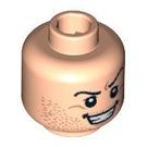 LEGO Plain Head with Decoration (Safety Stud) (3626 / 89784)