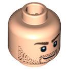 LEGO Plain Head with Decoration (Safety Stud) (88560 / 91851)
