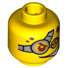 LEGO Plain Head with Decoration (Safety Stud) (90216 / 93357)