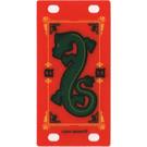 LEGO Plastic Flag 4 x 8 with Oriental Green Dragon