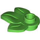 LEGO Plate 1 x 1 with 3 Plant Leaves (32607)