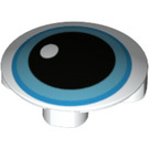 LEGO Plate 2 x 2 Round with Rounded Bottom with Blue Eyeball (2654 / 75813)