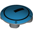 LEGO Plate 2 x 2 Round with Rounded Bottom with Hatch door (2654 / 26893)