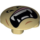 LEGO Plate 2 x 2 Round with Rounded Bottom with nostrils and pointy teeth (2654 / 15687)