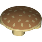 LEGO Plate 2 x 2 Round with Rounded Bottom with sesame seed bun (2654 / 22718)