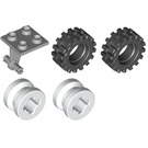LEGO Plate 2 x 2 Thin with Dual Wheels Holder Assembly with Split Pins (4870)