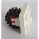 LEGO Plate 2 x 2 with Wheel Holder with Red Wheel and Black Tire Offset Tread