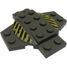 LEGO Plate 6 x 6 x 0.667 Cross with Dome with Decoration (30303)