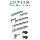 LEGO Plates, Gear Racks Set 5290