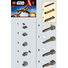 LEGO Poe's X-wing Fighter Set 30278 Instructions