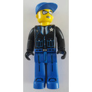 LEGO Police - Blue Legs, Black Jacket, Blue Cap, Sunglasses Minifigure