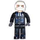 LEGO Police Cop with Black Outfit and White Helmet Minifigure