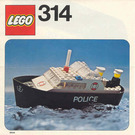 LEGO Police Launch Set 314-1 Instructions