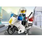 LEGO Police Motorcycle - Black/Green Sticker Version Set 7235-1