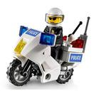 LEGO Police Motorcycle - Blue Sticker Version Set 7235-2