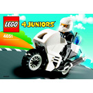 LEGO Police Motorcycle Set 4651 Instructions
