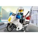 LEGO Police Motorcycle Set (Black/Green Sticker) 7235-1