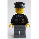 LEGO Police Officer with Badge, Blue Tie and Black Hat Minifigure