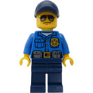 LEGO Police Officer with Dark Blue Hat and Sunglasses Minifigure