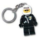 LEGO Police Officer with Printed Helmet Key Chain (3952)