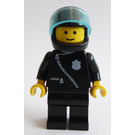 LEGO Police with Black Zipper Jacket and Black Helmet Minifigure