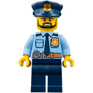 LEGO Policeman with Black Beard Minifigure