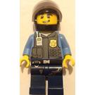 LEGO Policeman with Black Helmet Minifigure