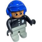LEGO Policeman with Blue Aviator Helmet Duplo Figure