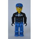LEGO Policeman with Blue Cap with Silver Star Minifigure