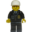 LEGO Policeman with Blue Tie and White Hat Minifigure