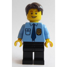 LEGO Policeman with Blue Tie, Gold Badge and Dark Brown Hairs Minifigure