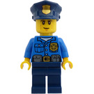 LEGO Policeman with Dark Blue Police Hat with Golden Badge Minifigure