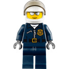 LEGO Policeman with Glasses and White Helmet Minifigure